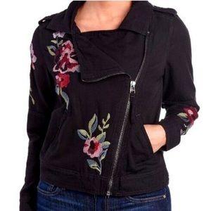 Kensie   🌸 Embroidered Moto Jacket
